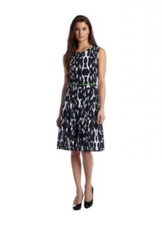 Calvin Klein  Printed Belted Dress