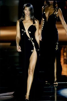 Christy Turlington, 1993 - Throw back to 15 of our favourite ever Versace catwalk moments from the Nineties
