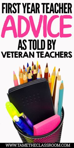 The first year of teaching can have its ups and downs. Here is some advice from veteran teachers to get you through the first year in the classroom. #firstyearteacher #newteacher #teachingideas