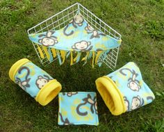 Fleece Cozy Sack for Guinea Pigs and Small by PennyGigDesigns, $12.50 // I need to buy one of these for my piggies!