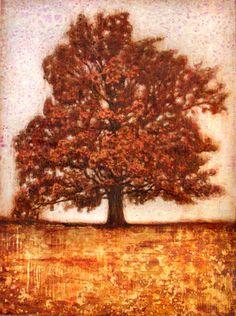 "Saatchi Online Artist Kristine Kvitka; Painting, ""Golden oak"" #art"