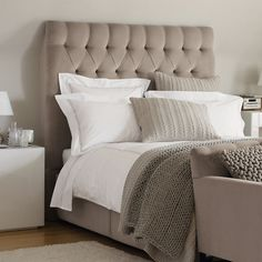 Richmond deep buttoned (tufted) Headboard - Beds | The White Company