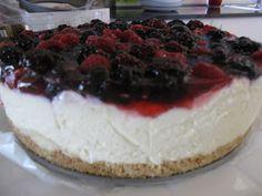 Ricotta berry no bake cheesecake