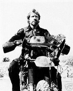 Chuck Norris and dirt bike