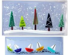 fused glass ideas with glass marbles christmas - Google Search