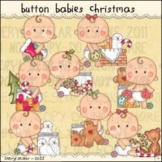 Button Babies Christmas 1 - Clip Art by Cheryl Seslar