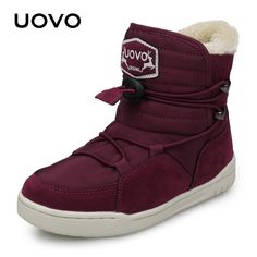 Winter Kids Snow Boots 2018 UOVO New Arrival Fashion Children Warm Boots  Boys And Girls Shoes cd42684ac196