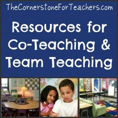 Co-Teaching & Team Teaching tips Team Teaching, Teaching Tips, Teaching Style, Teaching Strategies, Flipped Classroom, School Classroom, Classroom Ideas, Classroom Design, Future Classroom