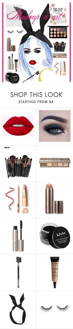 """Makeup is art,express it."" by bhavee-verma ❤ liked on Polyvore featuring beauty, Too Faced Cosmetics, Urban Decay, Laura Mercier, Ilia, NYX, Mary Kay, yunotme, tarte and MAC Cosmetics"