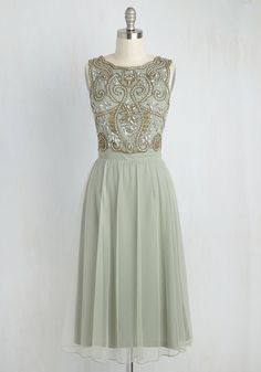 Have a Sway In the Matter Midi Dress. Styled in this sage green midi dress, you have major pull on the evenings plans! #green #prom #modcloth