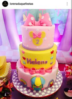 Minnie's Boutique Inspired Birthday Cake