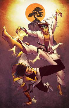 Karate Kid vs Karate Kid by Scruffyronin