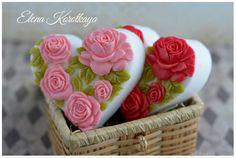 """""""Сердечко 5 роз"""" Мыло ручной работы – купить в интернет-магазине на Ярмарке Мастеров с доставкой"""