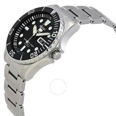 Seiko 5 Automatic Black Dial Stainless Steel Men's Watch SNZF17 - Seiko 5 - Seiko - Watches - Jomashop