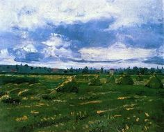 Wheat Fields with Stacks, 1888