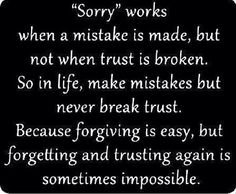 Trust. And be true!