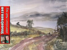 Painting landscapes with watercolours - YouTube