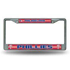 Philadelphia Phillies MLB Bling Glitter Chrome License Plate Frame