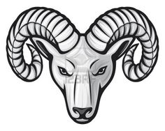 Illustration of head of the ram (ram head) vector art, clipart and stock vectors. Bussola Viking, Widder Tattoos, Ram Image, Big Horn Sheep, Totenkopf Tattoos, Head Tattoos, Tatoos, Art Icon, Zodiac Signs Leo