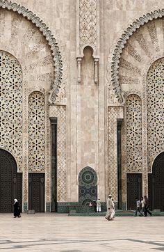Hassan II mosque in Casablanca,Morocco Sacred Architecture, Wallpaper Architecture, Landscape Architecture Model, Black Architecture, Architecture Portfolio Layout, Architecture Drawing Plan, Architecture Drawing Sketchbooks, Water Architecture, Conceptual Architecture
