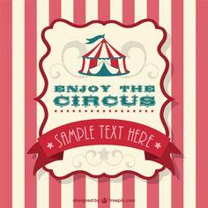 Ilustração circo tenda vetor