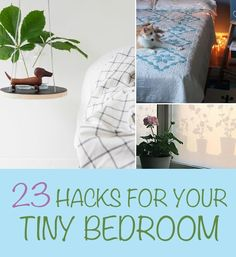 23 Hacks For Your Tiny Bedroom Curated by PlushBeds | http://plushbeds.life/best-night-sleep-p