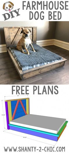 #DiyWoodworkingSimple Wood Dog Bed, Pallet Dog Beds, Diy Dog Bed, Dog Bed From Pallets, Large Dog Bed Diy, Homemade Dog Beds For Large Dogs, Small Dog Beds, Small Dogs, Diy Vanity