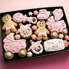 Large Baby Cookie Gift Box (10) [ccclargegiftbox] - £38.00 : Baby Shower Host