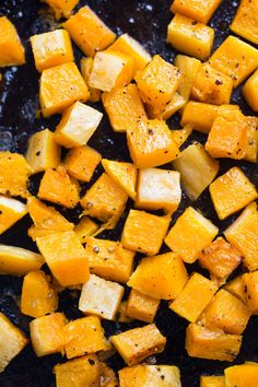 Perfectly roasted butternut squash for this simple Fall Quinoa Salad