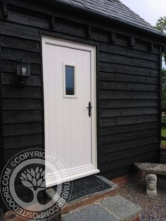 This Flint Solidor Timber Composite Door, makes an ideal addition to our customers home annex House Front Door, My House, Boat House, Winter Lodge, Composite Front Door, Interior And Exterior, Interior Design, Back Doors, Windows And Doors