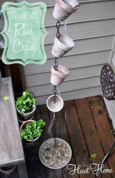 Repinned: DIY Terra Cotta Rain Chain!