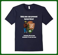 b0cf784c18a3 Mens Wokey the Bear Forest Fires Prevention T-Shirt XL Navy - Animal shirts  (