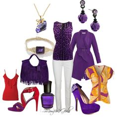 """""""Not Just Purple"""" by momfor2girls on Polyvore"""