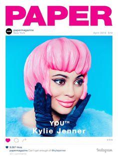 Kylie Jenner se marca un Kim Kardashian en la portada de Paper Magazine