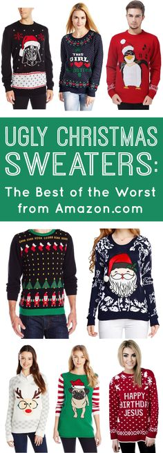 Ugly Christmas Sweaters: The Best of the Worst from Amazon.com -  if you have Prime you can have your sweater delivered in two days! No excuses this holiday season! Happiness is Homemade