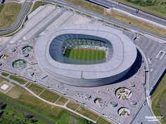 "The Wrocław Stadium, Poland, 51°08'29.1""N 16°56'37.6""E"