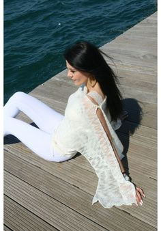 White Jeans, Wedding Dresses, Lace, Sweaters, Handmade, Tops, Women, Fashion, Hand Made