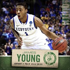 """""""With the 17th pick in the 2014 #NBADraft, the #Boston #Celtics select James Young"""""""