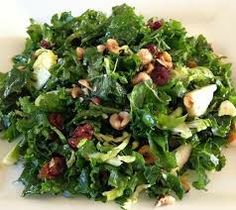 a different variation on the kale salad... this one is kale, balsamic, red wine vinegar, grated parmesan, ripe pears, and caramelized pecans.