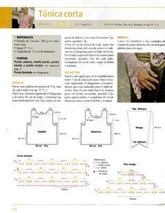 Solo esquemas y diseños de crochet: TUNICA CORTA