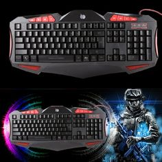 Material: ABS Feature: Waterproof Compatible with: Universal Item: Backlit Keyboard Color: Black Keys Quantity: 112 Cable length: 165cm Connectivity: Wired Interface: USB Multimedia key: Support 3colors Backlit change: Blue, Red, Purple Weight: 917g Keyboard Size: 465 x 218 x 35mm Long life of 5000 millon times. Wrist support at the edge of Keyboard. Spacebar, the…