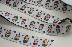 3 Meters of Matryoshkasrussian dolls embroidery fabric by betweeneedlesandpins, $6.50