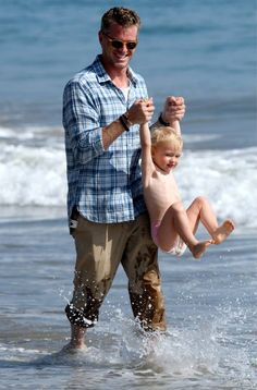 Eric Dane with a kid | what's more attractive?! Seriously