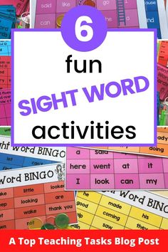 Fun sight word activities draw on both kinesthetic and visual learning and can merge neatly into a play-based learning environment. Visual Learning, Play Based Learning, Primary Classroom, Kindergarten Classroom, Teaching Materials, Teaching Resources, Dolch Sight Words, Phonics Games, Alphabet Coloring Pages