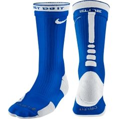 Nike Elite 2 Layer Crew Basketball Sock - Dick's Sporting Goods (Bright Red and Royal Blue)
