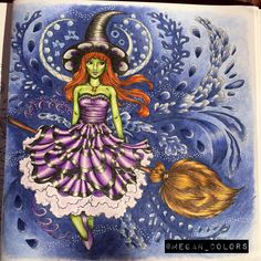Fantasia coloring book by Nicholas F. Chandrawienata http://www.pictaram.com/user/megan_colors/3696420526 #adultcoloring #adultcoloringbook #coloredpencil