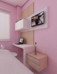 COCINAS INTEGRALES, CLOSET, PUERTAS Y MULTIMUEBLES Small Room Decor, Diy Room Decor, Bedroom Decor, Home Decor, Modern Bedroom Design, Home Room Design, Girl Room, My Room, Room Interior