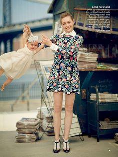Sasha Pivovarova in Valentino by Boo George for Vogue August 2013