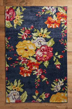 Floral Needlepoint Rug - anthropologie.com