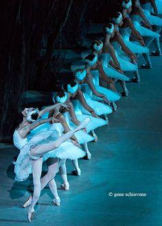 Oksana Skorik and artists of the Mariinsky Ballet in Swan Lake.  Photo (c) Gene Schiavone.